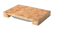Skärbräda med låda Gummiträ 48x32x6cm