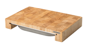 Skärbräda med låda Gummiträ 39x27x6cm