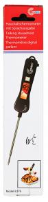 Talande termometer svart